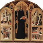 Martini, Simone (Siena, 1284 - Avignon, 1344)  Triptych of the Blessed St. Augustine Novellus  Tempera on panel, c. 1328  198 &#215; 257 cm  San Augustino,  Siena,  Tuscany, Italy